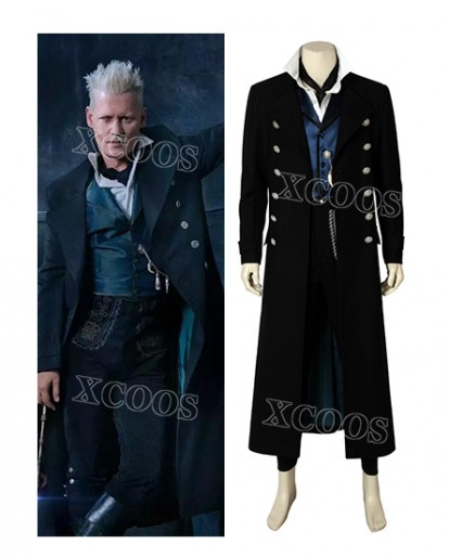 Fantastic Beasts The Crimes of Grindelwald Gellert Cosplay Costume Halloween Party Men Suit
