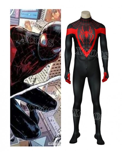 New Spider-Man Into the Spider-Verse Miles Morales Zentai Aaron Davis Cosplay Costume