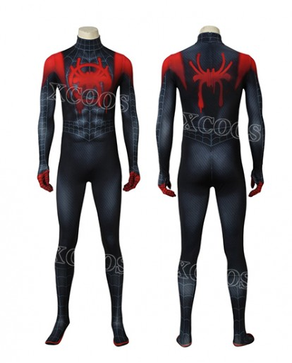 Spiderman Costume Ultimate Miles Morales Superhero Zentai Halloween Cosplay Suit