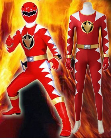 Power Rangers Dino Thunder Red Cosplay Costume