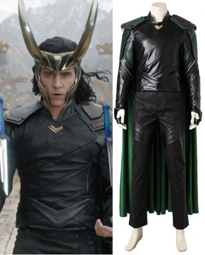Thor 3 Loki Cosplay Costume Thor Ragnarok Loki Full Suit Halloween Costume