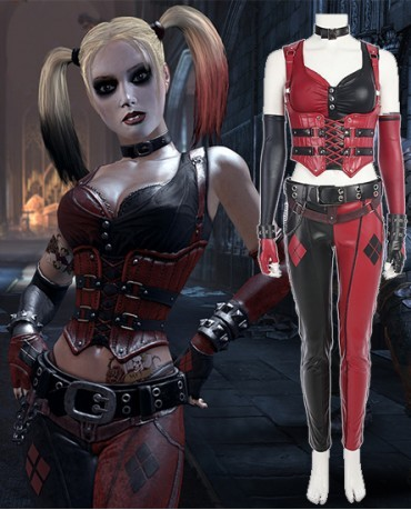 Batman: Arkham Knight The Joker Harley Quinn Cosplay Costume