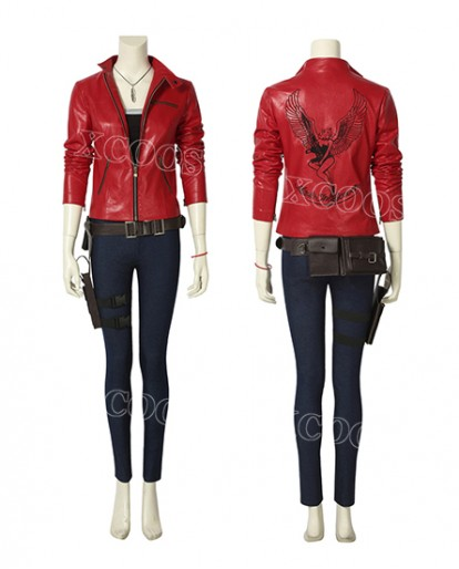 New Arrivals Resident Evil 2 Claire Redfield Christmas Cosplay Costume Game Props Outfits