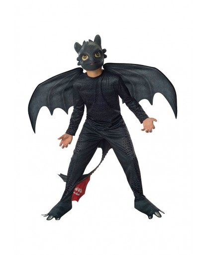 How To Train Your Dragon Toothless Night Fury Boys Cosplay Costume Kids Fancy Dress