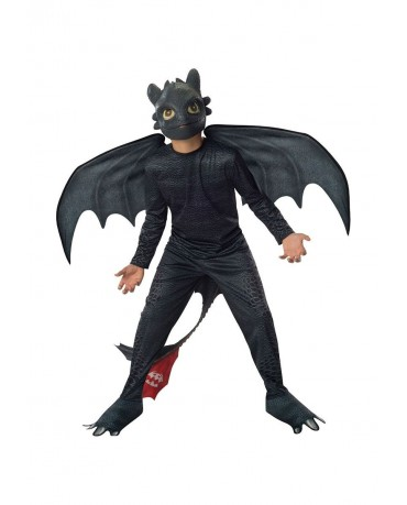How To Train Your Dragon Toothless Night Fury Boys Costume Kids Fancy Dress