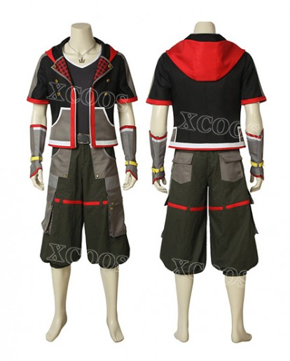 HOT Game Kingdom Hearts 3 Sora Cosplay Costume Customize Halloween Unisex Costume