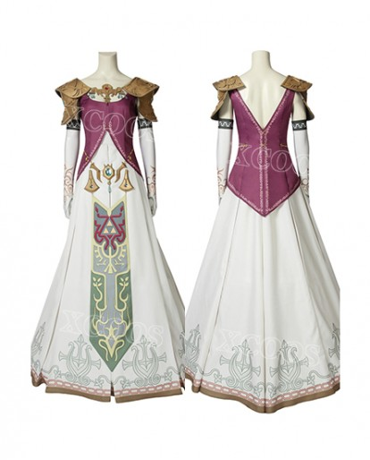 The Legend of Zelda: Twilight Princess Princess Zelda Cosplay Costume Women Fancy Dress