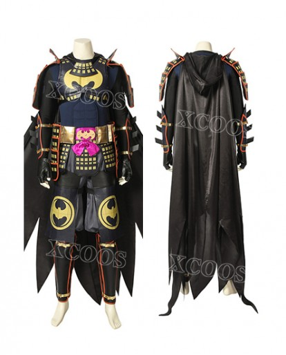 2019 Movie Batman Ninja Bruce Wayne Deluxe Cosplay Costume Outfit Suit Cape