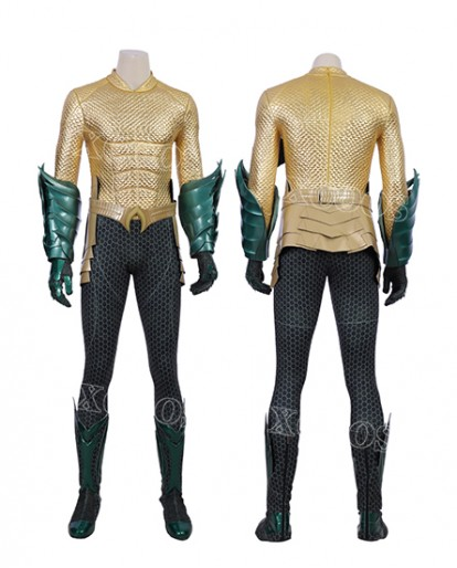 Hot sale Aquaman Arthur Curry Superhero Cosplay Costume Men Outfit