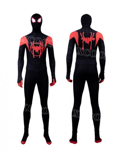 Spider-Man: Into the Spider-Verse Miles Morales Cosplay Costume Adult/Kid 3D Style Jumpsuit