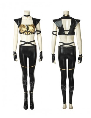 2018 Game LOL League of Legends KDA Kaisa Leather Punk Uniform Cosplay Costume Full Suit