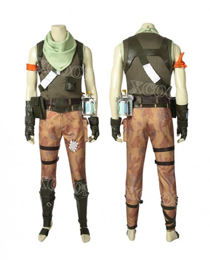 Hot Game Fortnite Battle Royale Jonesy Cosplay Costume Halloween Uniform Custom Made
