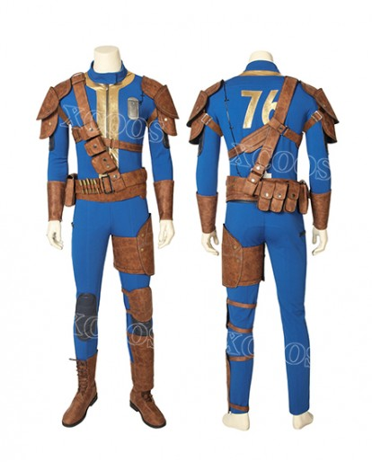 Game FALLOUT 76 Vault 76 jumpsuit Cosplay Costume For adults