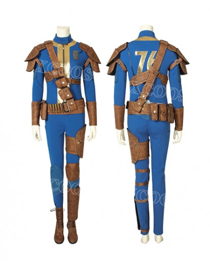 Game FALLOUT 76 Vault 76 jumpsuit Women Cosplay Costume For adults