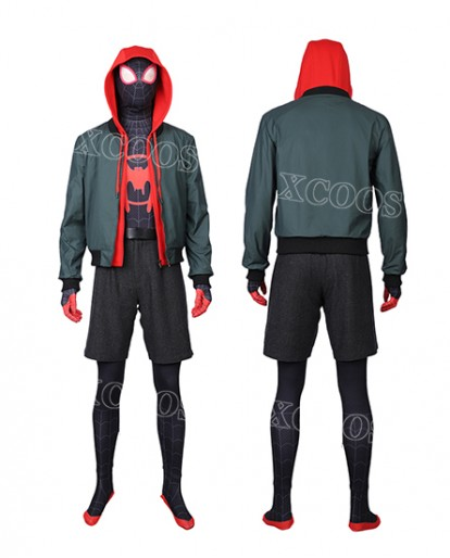 Spider-Man: Into the Spider-Verse Miles Morales Cosplay Costume Jacket Hoodie