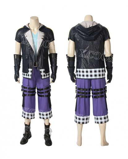 Kingdom Hearts III Riku Cosplay Costume Mens Halloween Carnival Costume
