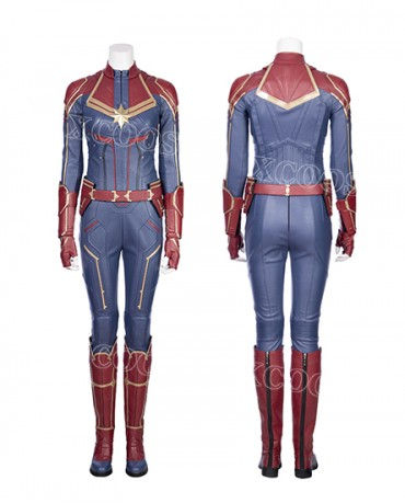 Ms.Marvel Captain Marvel Carol Cosplay Costume Jumpsuit Halloween Cos