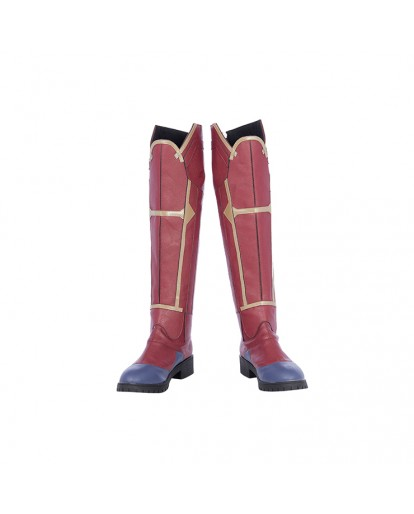 Ms.Marvel Captain Marvel Carol Cosplay Boots
