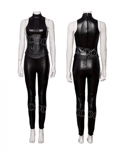 2019 Hot Movie Alita: Battle Angel Women Cosplay Costume Sexy Black Leather