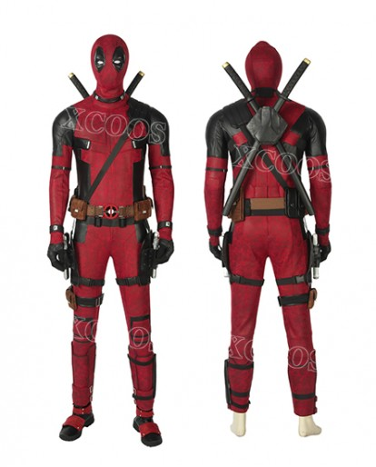 2019 New Deadpool 2 Wade Wilson Halloween Cosplay Costume Full Set Suit