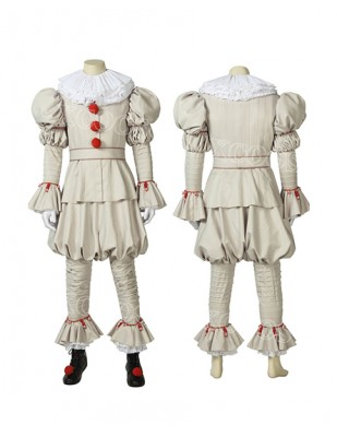2019 IT chapter two It Pennywise the Dancing Clown Stephen King Cosplay Costume