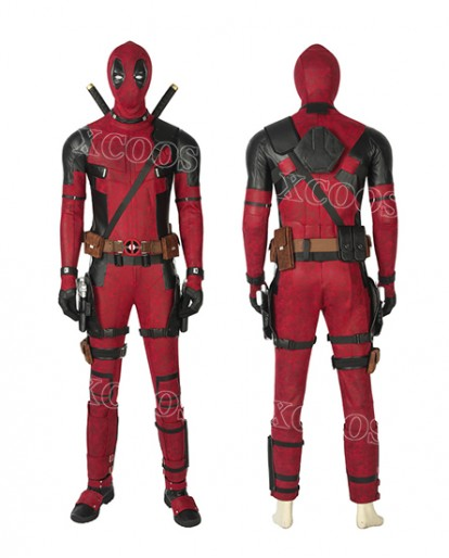 2019 Latest Deadpool Wade Wilson Halloween Cosplay Costume Full Set Suit