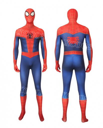 Hot Movie Spider-Man: Into the Spider-Verse Peter Parker Cosplay Costume 3D Style Jumpsuit