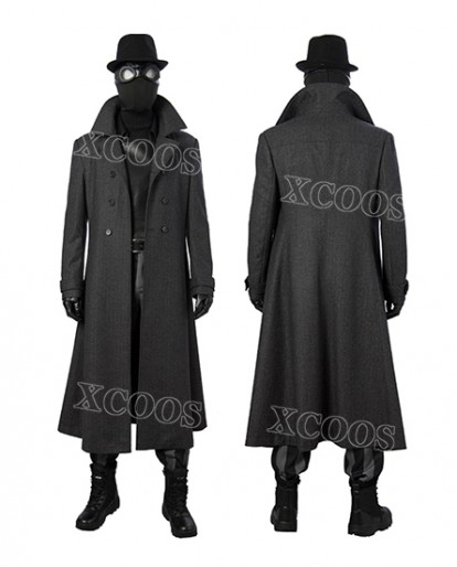 Spider-Man Into the Spider-Verse Spider-Man Noir Cosplay Costume Halloween Coat Outfit