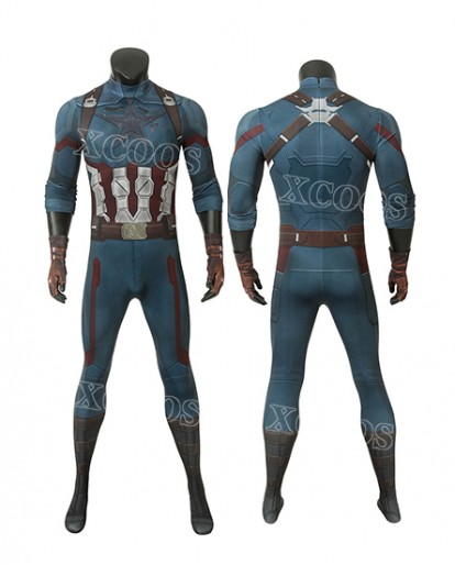 2019 Movie Avengers Infinity War Captain America Steve Rogers Cosplay Costume