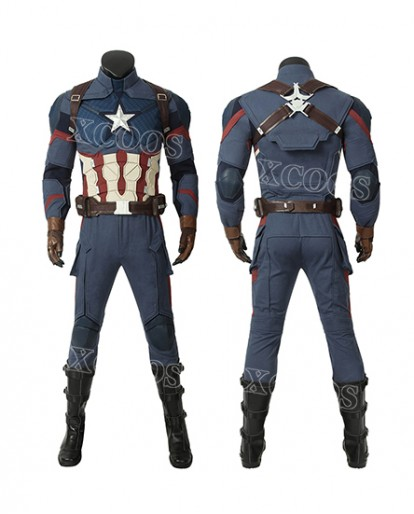 New Movie Avengers 4 Avengers: Endgame Steven Rogers Captain America Cosplay Costume