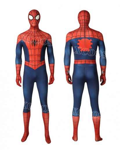 2019 Hot Ultimate Spider-Man Season1 Peter Parker Cosplay Costume Zentai Jumpsuit