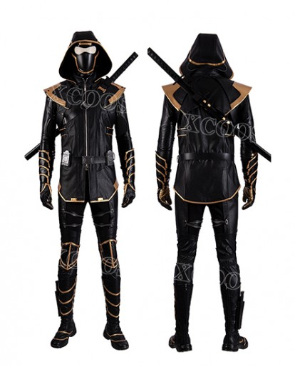 Movie Avengers: Endgame Clinton Barton Hawkeye Ronin Cosplay Costume Whole Set Suit