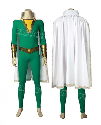 Captain Marvel Jr. Suit Shazam Freddy Freeman Cosplay Costume