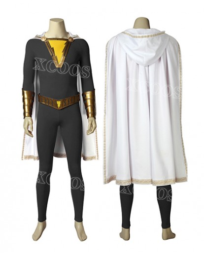 DC Comics Captain Marvel Jr. Suit Shazam Freddy Freeman Cosplay Costume