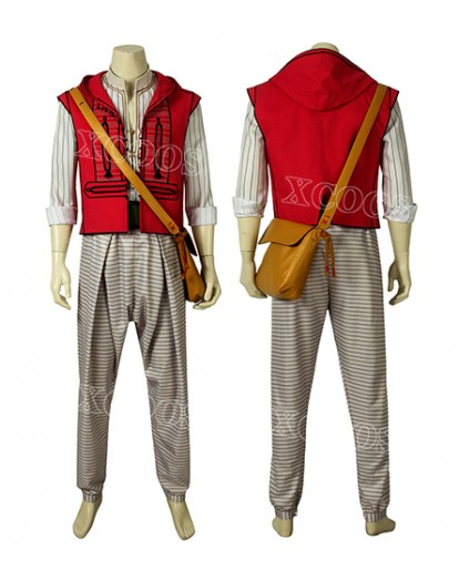 2019 Movie Aladdin Mena Massoud Cosplay Costume Men Vest