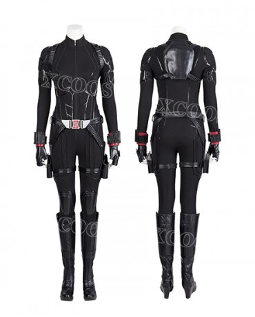 New Movie The Avengers Endgame Black Widow Cosplay Costume Women Jumpsuit