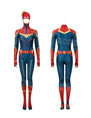Captain Marvel Carol Danvers Cosplay Costume Jumpsuit Women Bodysuit Halloween Onesies