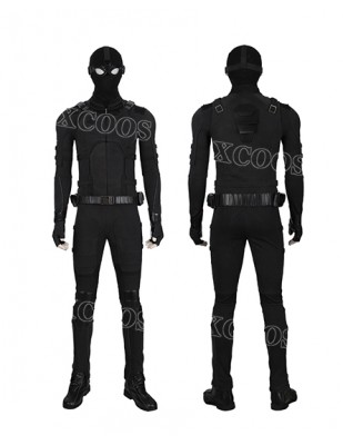 Spiderman Far From Home Stealth Suit Black Men Outfit Spider man Cosplay Costume
