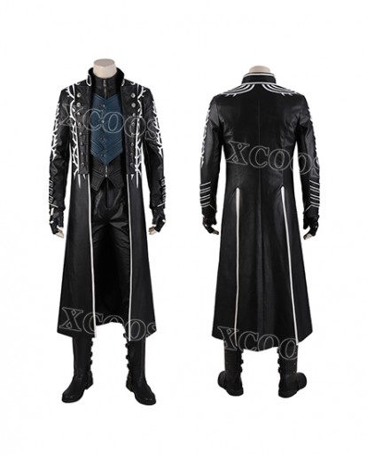 DMC Devil May Cry5 Vergil Cosplay Costume Men Coat Whole Set Suit