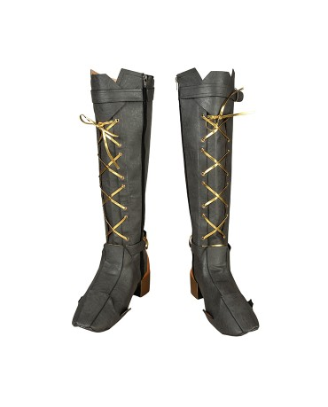 Overwatch Ashe Damage Cosplay Boots Women Boots