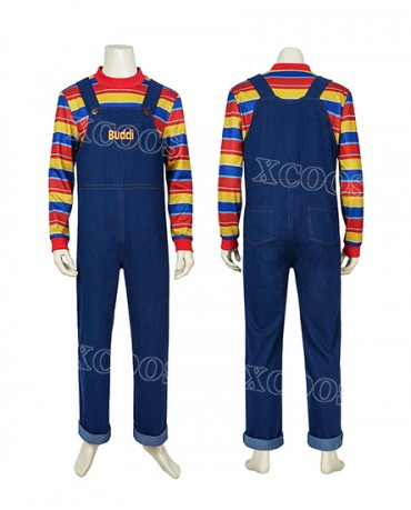 Child's Play Buddi Cosplay Costume Chucky Voodoo Halloween Costume