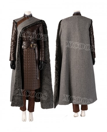 Game of Thrones Arya Stark Season 8 S8 Cosplay Costume Adult Outfit Cloak Suits