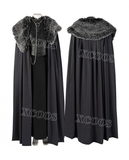New Game Of Thrones Season 8 Sansa Stark Cosplay Costume Top Level Fancy Women Dress