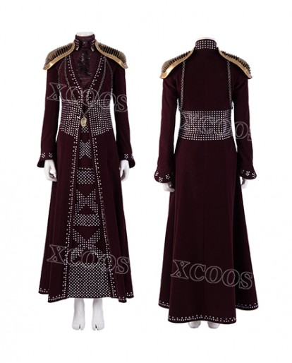 2019 Game of Thrones Season 8 Cersei Lannister Cosplay Costume Queen Dress