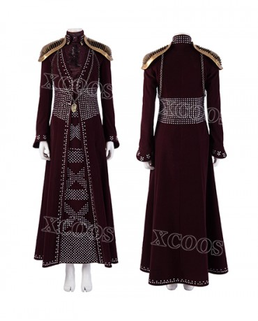 Game of Thrones Season 8 Cersei Lannister Cosplay Costume Queen Dress
