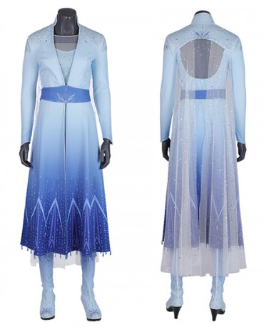 Halloween Cosplay Frozen Elsa Princess Deluxe Cosplay Costume