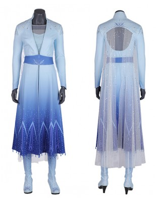 Halloween Cosplay Frozen 2 Elsa Princess Deluxe Cosplay Costume