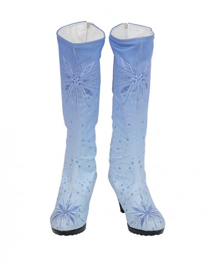 Halloween Cosplay Frozen Elsa Princess Deluxe Cosplay Boots