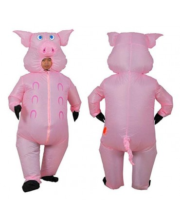 Fat Guy Inflatable Pig Cosplay Costume Jumpsuit