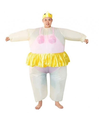 Ballet Ballerina Cosplay Fat Guy Costume Jumpsuit